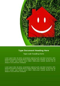 Red Home Word Template, Cover Page, 05003, Financial/Accounting — PoweredTemplate.com