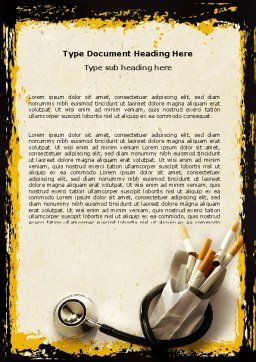Smoking Kills Word Template, Cover Page, 05004, Medical — PoweredTemplate.com