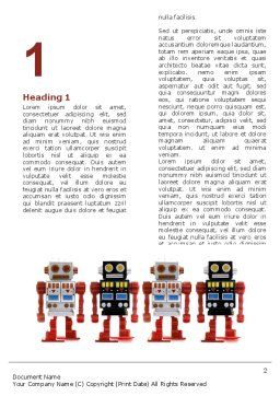 Robots Word Template, First Inner Page, 05005, Technology, Science & Computers — PoweredTemplate.com