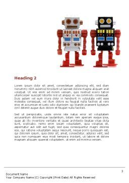 Robots Word Template, Second Inner Page, 05005, Technology, Science & Computers — PoweredTemplate.com