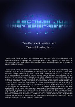 Digital Media Word Template, Cover Page, 05008, Technology, Science & Computers — PoweredTemplate.com