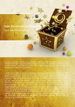 Magic Box Word Template, Cover Page, 05009, Holiday/Special Occasion — PoweredTemplate.com