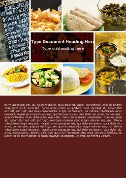 Indian Food Word Template, Cover Page, 05011, Food & Beverage — PoweredTemplate.com