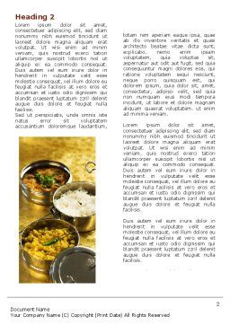 Indian Food Word Template, First Inner Page, 05011, Food & Beverage — PoweredTemplate.com