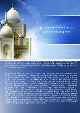 Islamic Architecture Word Template, Cover Page, 05013, Religious/Spiritual — PoweredTemplate.com