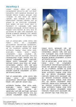 Islamic Architecture Word Template, First Inner Page, 05013, Religious/Spiritual — PoweredTemplate.com
