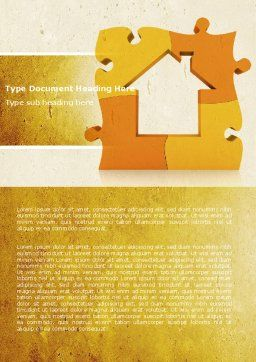 Townhouse Planning Word Template, Cover Page, 05014, Consulting — PoweredTemplate.com