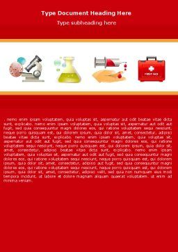 Medicinal Chemistry Word Template, Cover Page, 05015, Medical — PoweredTemplate.com