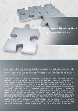 Gray Jigsaw Word Template, Cover Page, 05018, Consulting — PoweredTemplate.com