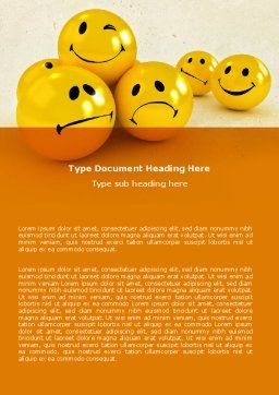 Emoticons Word Template, Cover Page, 05022, Consulting — PoweredTemplate.com