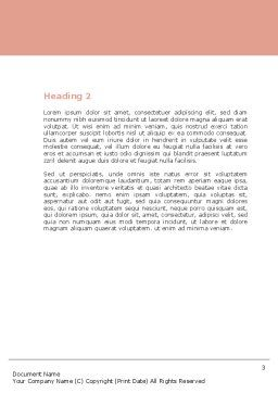 Breast Feeding Word Template, Second Inner Page, 05025, Medical — PoweredTemplate.com