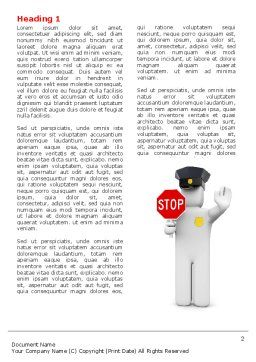 Traffic Police Word Template, First Inner Page, 05026, Careers/Industry — PoweredTemplate.com