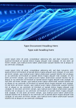 Wired Word Template, Cover Page, 05030, Technology, Science & Computers — PoweredTemplate.com