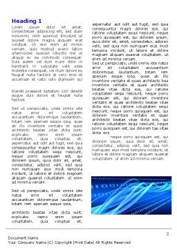 Wired Word Template, First Inner Page, 05030, Technology, Science & Computers — PoweredTemplate.com