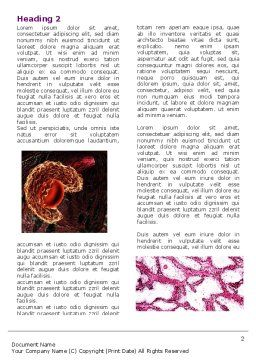 Microbiology Collage Word Template, First Inner Page, 05032, Medical — PoweredTemplate.com