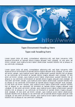 Website Solution Word Template, Cover Page, 05034, Technology, Science & Computers — PoweredTemplate.com