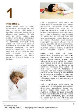 Sleep Word Template, First Inner Page, 05036, Medical — PoweredTemplate.com