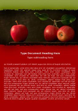 Red Apples Word Template Cover Page