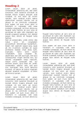 Red Apples Word Template First Inner Page