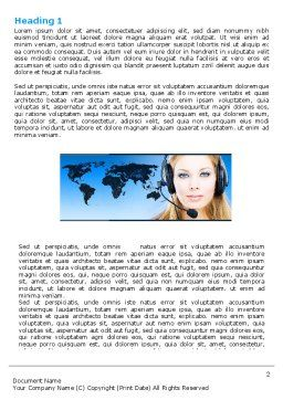 Communication Service Word Template, First Inner Page, 05039, Telecommunication — PoweredTemplate.com