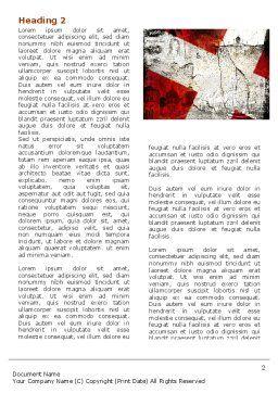 Denmark Word Template, First Inner Page, 05046, Flags/International — PoweredTemplate.com