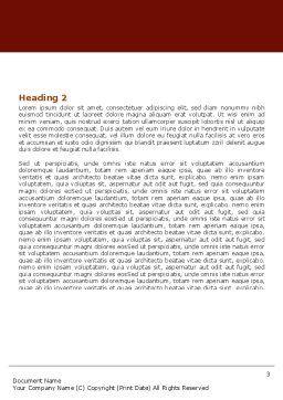 Denmark Word Template, Second Inner Page, 05046, Flags/International — PoweredTemplate.com