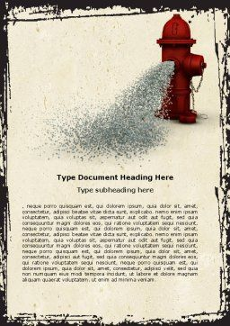 Fire Hydrant Word Template, Cover Page, 05047, Careers/Industry — PoweredTemplate.com