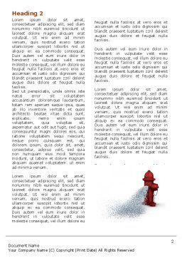 Fire Hydrant Word Template, First Inner Page, 05047, Careers/Industry — PoweredTemplate.com