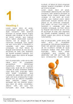 Lesson Word Template, First Inner Page, 05049, Education & Training — PoweredTemplate.com