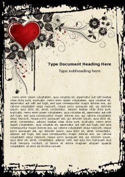 Love Ornament Word Template, Cover Page, 05050, Holiday/Special Occasion — PoweredTemplate.com