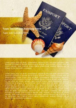 Traveling Abroad Word Template Cover Page