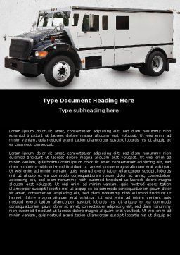 Free Armored Car Word Template, Cover Page, 05059, Careers/Industry — PoweredTemplate.com