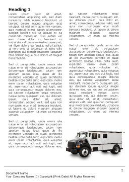 Free Armored Car Word Template, First Inner Page, 05059, Careers/Industry — PoweredTemplate.com