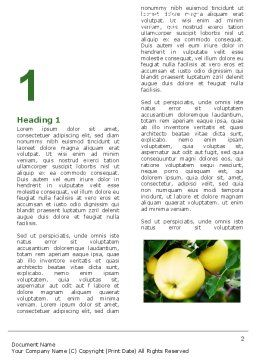 Yellow Apple Word Template, First Inner Page, 05062, Agriculture and Animals — PoweredTemplate.com