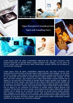 Ultrasound Collage Word Template, Cover Page, 05063, Medical — PoweredTemplate.com
