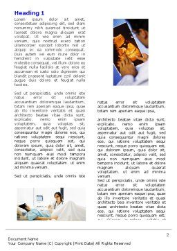 Ultrasound Collage Word Template, First Inner Page, 05063, Medical — PoweredTemplate.com