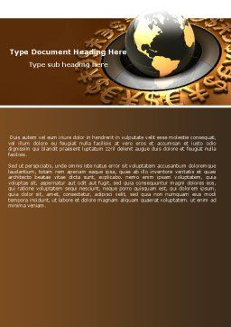 Global Currency Word Template, Cover Page, 05065, Financial/Accounting — PoweredTemplate.com