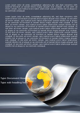 International Word Template, Cover Page, 05066, Global — PoweredTemplate.com