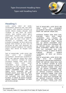 International Word Template, First Inner Page, 05066, Global — PoweredTemplate.com