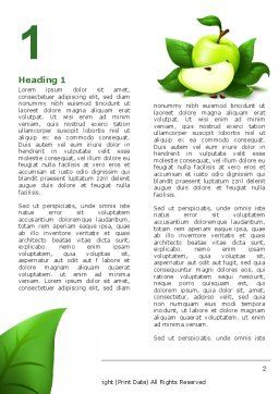 Cut Green Apple Word Template, First Inner Page, 05071, Food & Beverage — PoweredTemplate.com