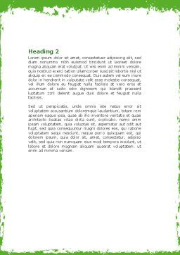 Cut Green Apple Word Template Second Inner Page