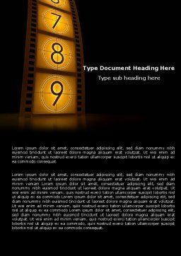 Cinema Strip Word Template, Cover Page, 05073, Careers/Industry — PoweredTemplate.com