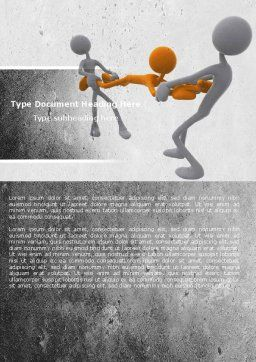 Contradiction Word Template, Cover Page, 05078, Consulting — PoweredTemplate.com
