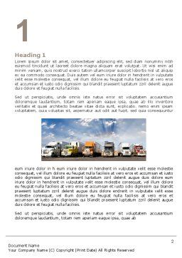 Trucks Word Template, First Inner Page, 05080, Cars/Transportation — PoweredTemplate.com