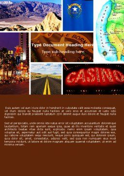 Nevada Word Template, Cover Page, 05084, America — PoweredTemplate.com