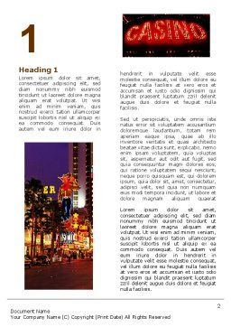 Nevada Word Template, First Inner Page, 05084, America — PoweredTemplate.com