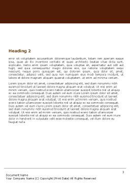 Nevada Word Template, Second Inner Page, 05084, America — PoweredTemplate.com