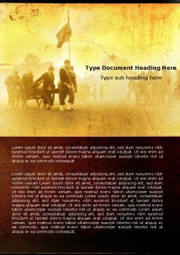 American Civil War Word Template, Cover Page, 05086, Military — PoweredTemplate.com