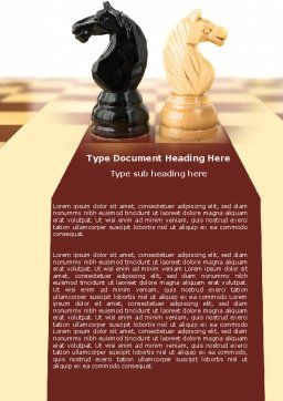 Knight Move Word Template, Cover Page, 05089, Consulting — PoweredTemplate.com