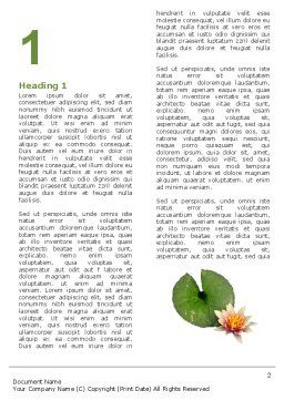 Water Lily Word Template, First Inner Page, 05090, Nature & Environment — PoweredTemplate.com